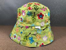 Kids Sz Small 50cm Hand Made In Tasmania Woodland Animals Print Bucket Sun Hat