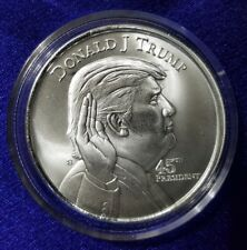 "1 oz Pure/Solid Silver Round Bullion: "" Donald Trump 45th President of the USA """