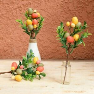 Easter Tree Egg Decoration Simulation Leaf Creative Ornaments Painting Branches