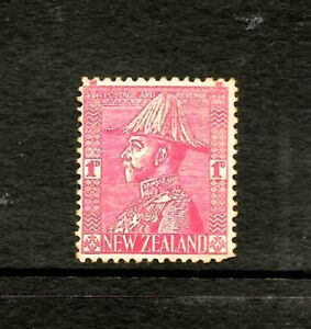 NEW ZEALAND 1926, 1d RED ADMIRALS, King George V in Uniform, SG468,MH