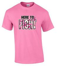Here to Fight Cancer Breast Cancer Awareness T-Shirt