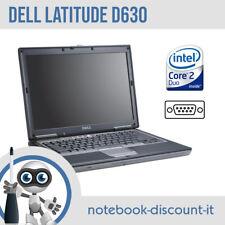 Notebook DELL Latitude D630 Core 2 Duo Ram 2gb PORTA SERIALE RS232 WiFi Testato