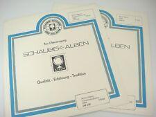Schaubek West Berlin Stamp Album Pages 1989 Singles Pairs Supplements 644 Z/89