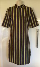 NWT ASOS First & I Retro Look Stripe With Glitter Bodycon Dress Size M