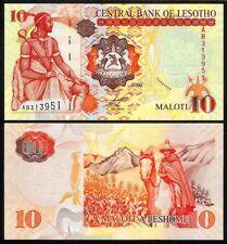 LESOTHO 10 MALOTI 2009 P15 UNCIRCULATED