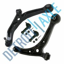 New 4pc Kit: Front Lower Control Arms and Ball Joints + (2) Outer Tie Rod Links