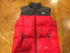 The North Face 600 Goose Down Puffer Vest Red Children Youth Stow Pocket L