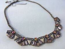 Sorrelli Mosaic Line Statement Necklace, Apricot Agate Collection, $185