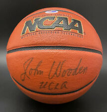 Coach John Wooden SIGNED Wilson NCAA Basketball I/O + UCLA PSA/DNA AUTOGRAPHED