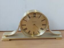 Brass Effect Quartz Mantel Clock by Churchill *Full Working Order* S10