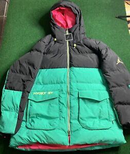 Air Jordan Down-Fill Parka Jacket CK6661 011 Black/Green-Pink New Men's Size 2XL