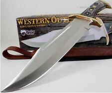 Timber Rattler Western Outlaw Massive Bowie Hunting Skinning Knife + Sheath