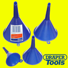 Draper 43853 4-Piece Plastic Different Size Funnel Set Kitchen Garden Fuel Oil