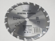 "7 1/4"" C2 Carbide tipped General purpose 20T Circular Saw Blade, 5/8""; Brand New"