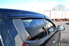 To Fit 15+ Mitsubishi L200/Triton /Strada Window Wind Rain Deflectors - Adhesive