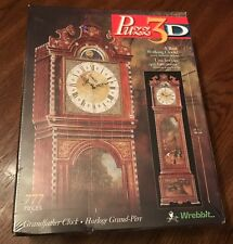 "NEW Sealed Puzz 3D Working Grandfather Clock 777 Pieces 34 3/4"" Tall 1997"