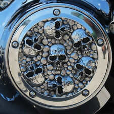 Seven Deadly Sins derby cover in polished aluminum. Harley Twin Cam. DCSP-1