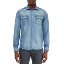 Camisas y polos de hombre de manga larga de color principal azul talla XL