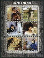 Chad Art Stamps 2002 MNH Berthe Morisot Paintings 6v M/S