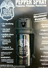 Police Magnum pepper spray 2oz Stream Flip Top Belt Clip Personal Self Defense