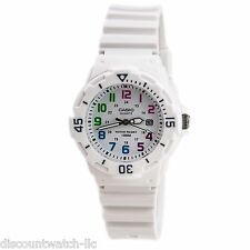 Casio LRW200H-7B Women's White Resin Band 100M Sports Day Date Analog Watch