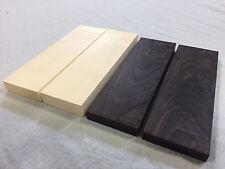 Holly & African Blackwood Wood Knife Handle Blanks Scales Gun Grip Exotic Lumber