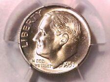 1951 S Roosevelt Dime PCGS MS 66 38929801 PCGS Label Error Says P but has a S