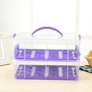 2 Tier 12 Muffin Plastic Cupcake Carrier Holder Storage Container Box Handle NEW
