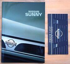 Nissan Sunny Brochure - February 1992 (inc GTi)