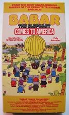 BABAR THE ELEPHANT COMES TO AMERICA VHS VIDEO