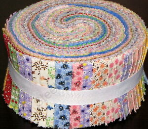 Pack of 40 Strips 2.5 W x 45 L Jelly Rolls Fabric for Quilting Craft 100/% Cotton Heritage Floral Design Patchwork