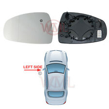 AUDI A1 2010->2017 DOOR MIRROR GLASS SILVER ASPHERIC,HEATED & BASE,LEFT SIDE