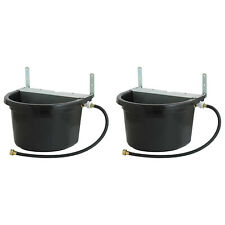 Little Giant 4 Gal Float Controlled Waterer Livestock Water Trough 2 Pack