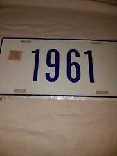 1961 vanity license plate BLUE