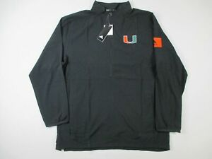 Miami Hurricanes adidas Pullover Men's Black Poly NEW Multiple Sizes