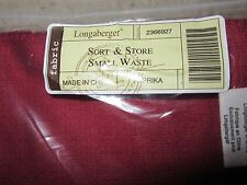 Longaberger Sort and Store Small Waste Basket Liner Paprika Fabric