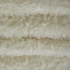 """1/4 yd 785S/C White INTERCAL 3/4"""" Med. Dense Curly German Mohair Fabric"""