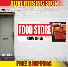 Food Store Now Open Advertising Banner Vinyl Mesh Decal Sign grocery deli shop
