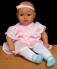"Adorable Lissi 20"" Vinyl & Cloth Baby Doll in Smocked Polly Flinders Dress"