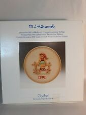 """Hummel Goebel Bas-Relief 1991 Collector'S Plate """"Just Resting"""" - Mint In Box"""