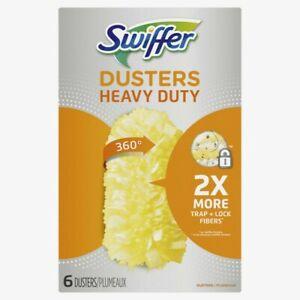 Swiffer 360 Fiber DUSTER REFILL 6 pk Heavy-Duty Trap+Lock Tight Spaces 16944 NEW