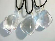 Crystal Quartz Tumbled Stone Pendant ( One Piece )