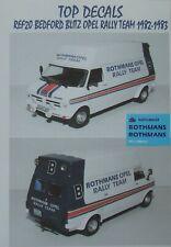 ADDITIF ROTHMANS BEDFORD BLITZ OPEL RALLY TEAM 1982-1983 ALTAYA TOP DECALS 1/43