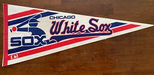 Vintage 1980's Chicago White Sox Pennant Flag MLB  Baseball