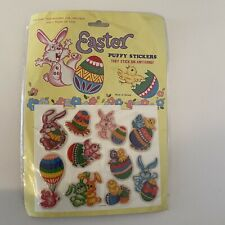 Vintage Easter Puffy Stickers NOS