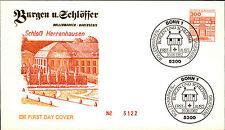 Ersttagsbrief 1982 Sonderstempel BONN Marke 300 Pfennig Schloss Herrenhausen