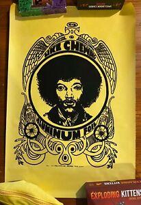 Vintage & Original 1971 Velvet Jimi Hendrix Katz Chewing Aluminum Foil Poster