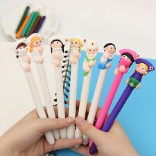 6Pcs Creative Character Doctor Nurse Polymer Pen Office School Supply Stationery