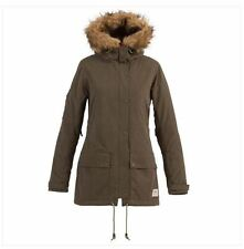 2016 NWT WOMENS BILLABONG EVANNAH SNOWBOARD JACKET $250 S army faux fur label