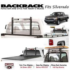 15024 BackRack Black Short Headache Rack Fits Silverado / Sierra 2007-2018